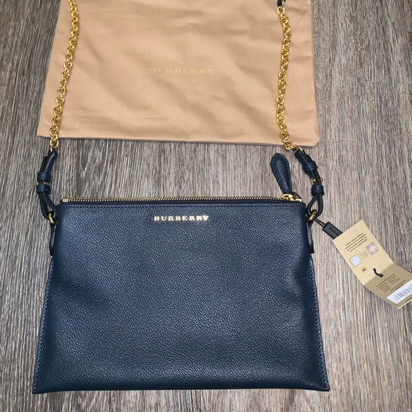 Burberry Handbags - 100% Authentic Burberry Blue Carbon Crossbody NWT